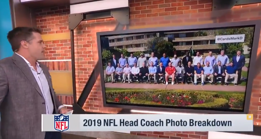 Kyle Brandt breaking down the NFL coaches' attire.