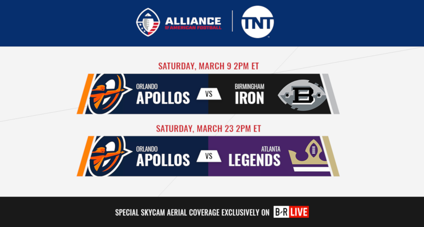 TNT has announced new AAF games.