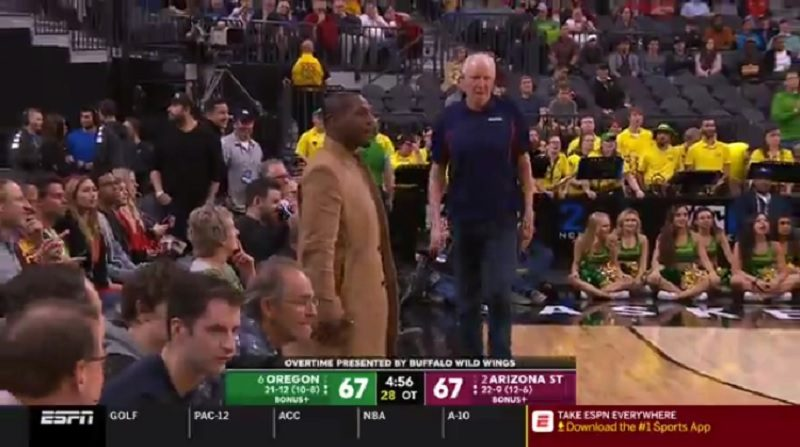 Bill Walton Rushed To A Bathroom Break Before The Start Of Overtime In The Arizona State Oregon Game