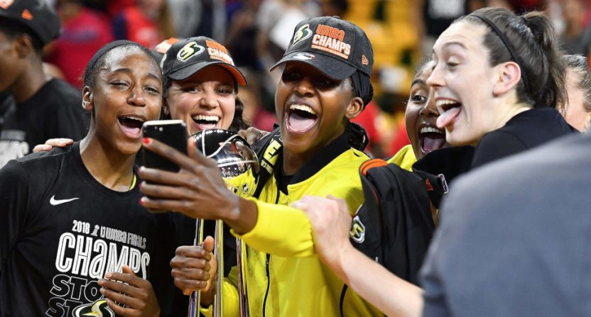 The 2018 WNBA championship celebrations of the Seattle Storm.