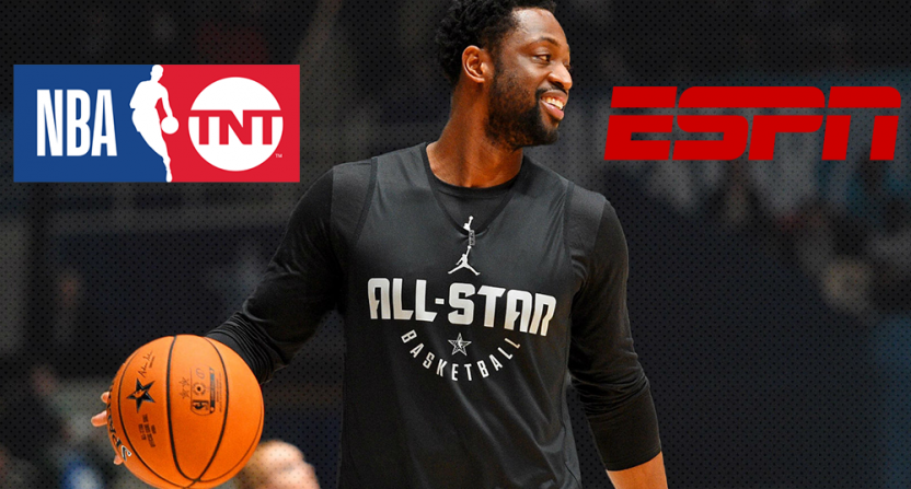 ESPN and TNT both currently making their pitch for Dwyane