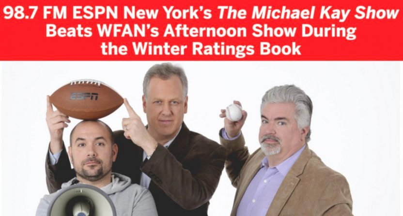 "No, Michael Kay didn't ""beat"" Mike Francesa."