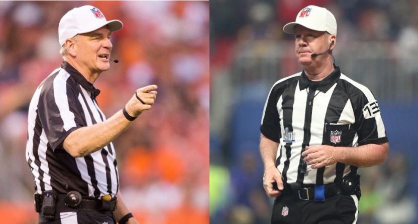 Jeff Triplette (L) will be replaced by John Parry (R) on Monday Night Football this year.
