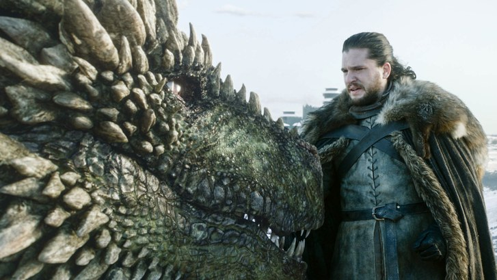 Game of Thrones' S8 premiere saw Jon Snow getting close to a dragon.