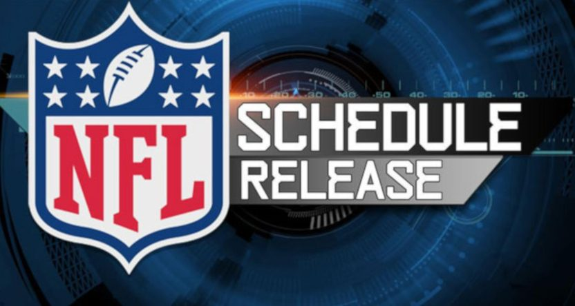 A NFL schedule release graphic.