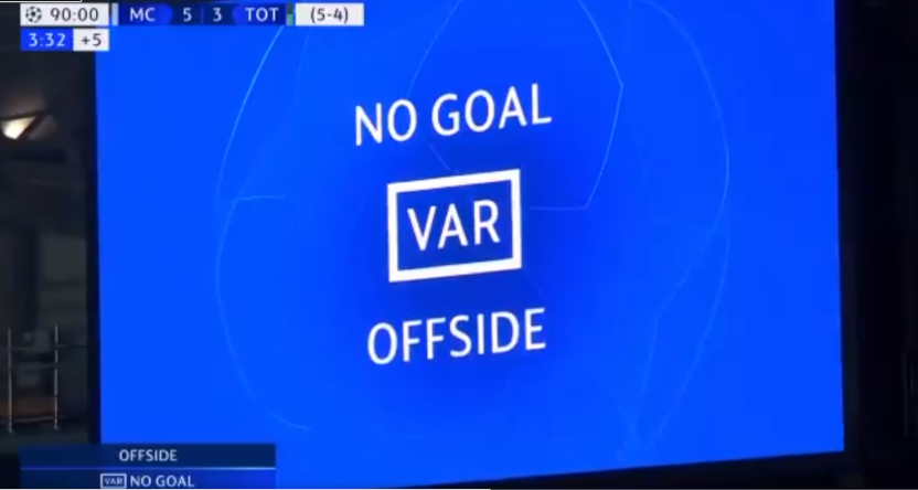 The VAR ruling from City-Tottenham.