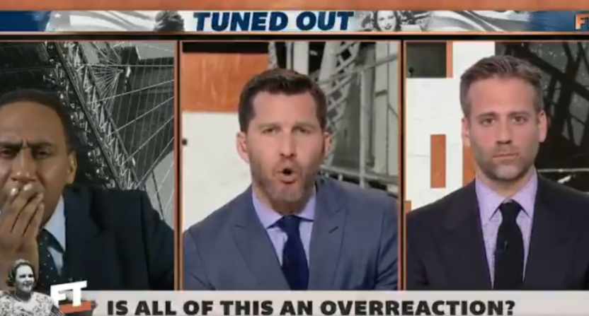 Will Cain defending Kate Smith on First Take.
