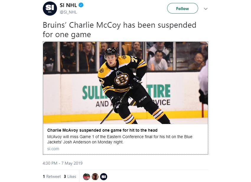 SI's Charlie McCoy tweet.