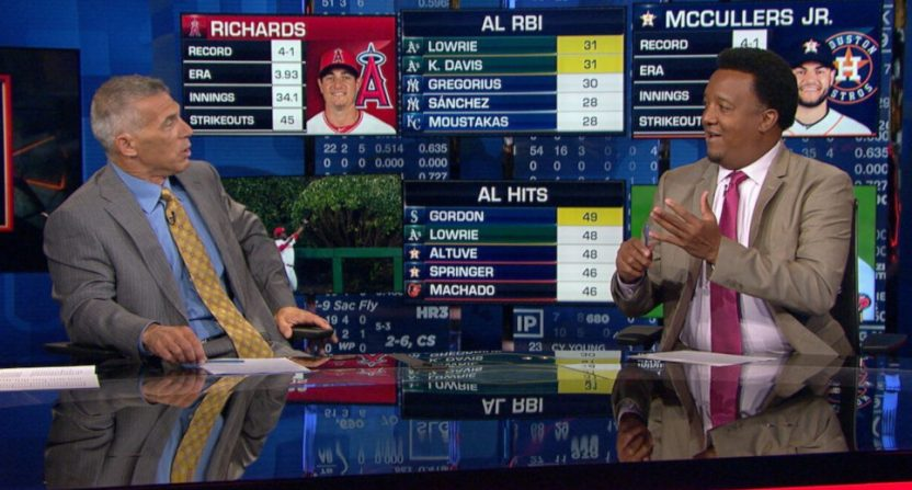 Joe Girardi and Pedro Martinez on MLB Network.