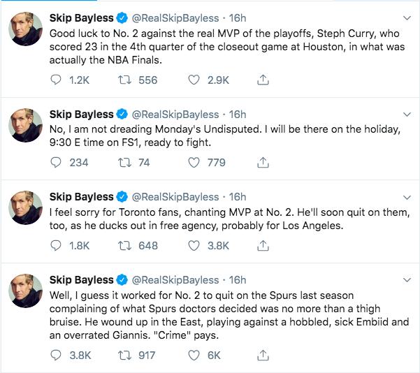 Skip Bayless tweets