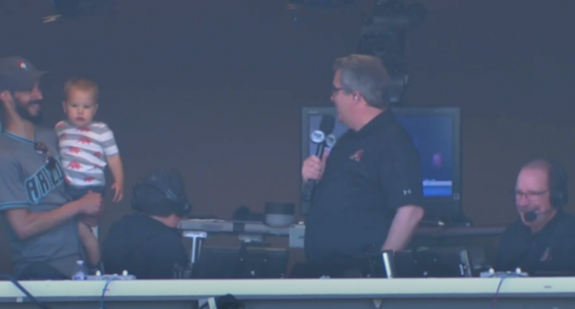 Steve Berthiaume got a booth visit from a family invited by someone with a fake Twitter account in his name.