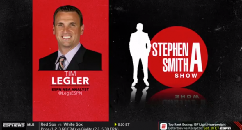 Tim Legler calling in to The Stephen A. Smith Show.