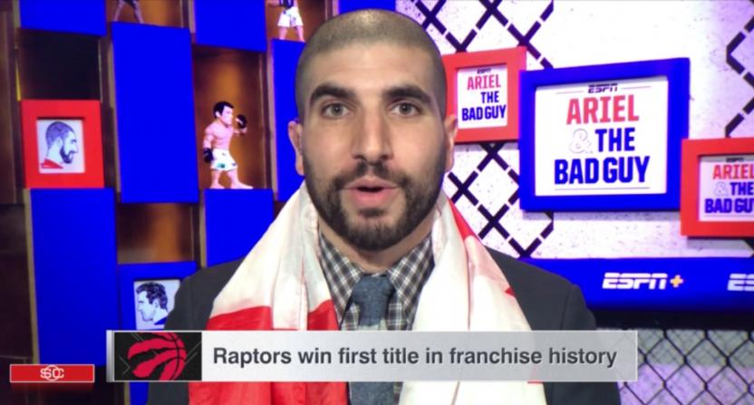 Ariel Helwani on the Raptors' win.