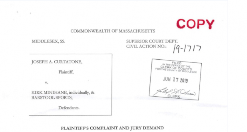 A Joseph Curtatone lawsuit against Barstool.