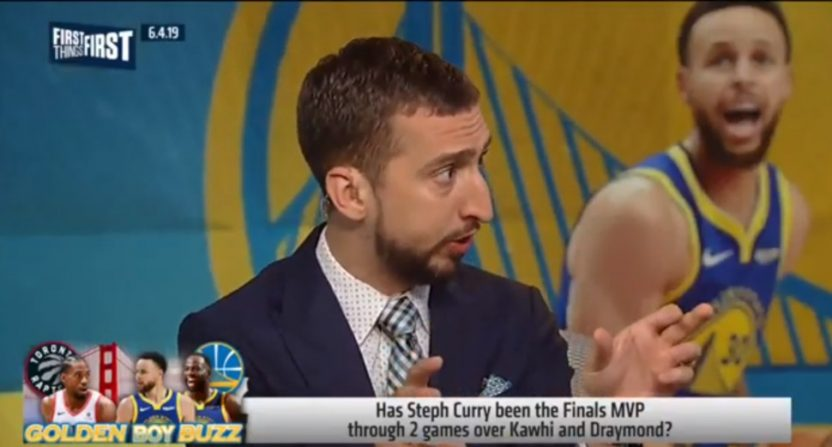 Nick Wright's comments on Steph Curry