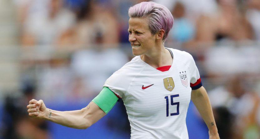 Monday's USA-Spain Women's World Cup match (featuring this Megan Rapinoe fist-pump after a goal) drew a big audience for NBCSN/Telemundo.