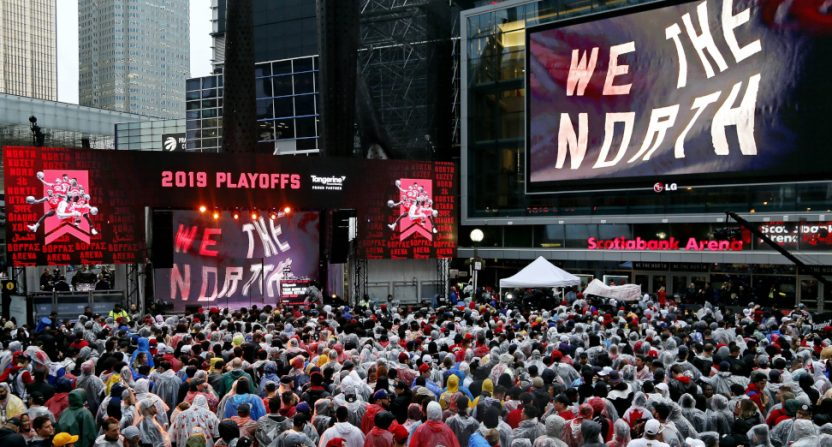 Canada has tuned in for Raptors games, including from the Jurassic Park viewing area.