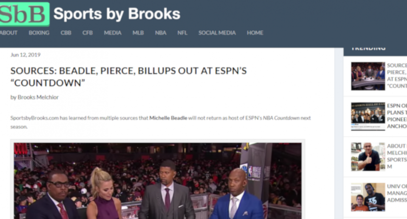 A NBA Countdown report from Sports by Brooks.