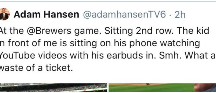 Tweet Adam Hansen