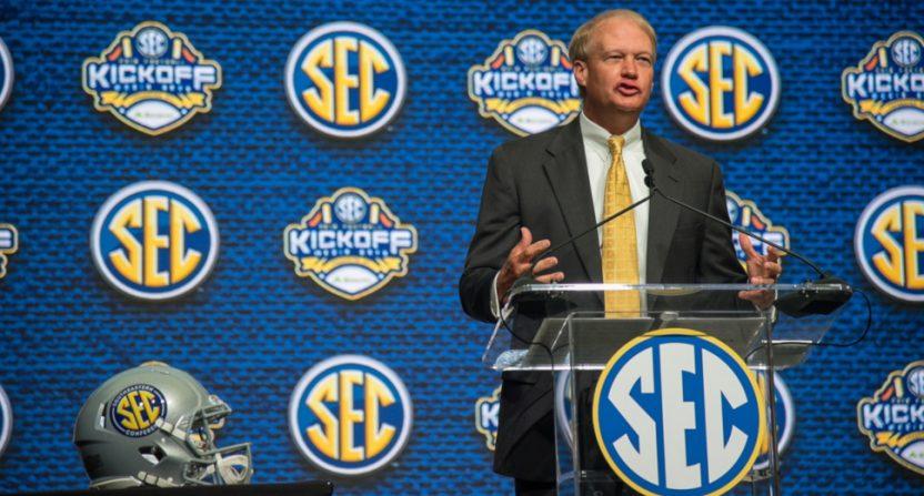 SEC coordinator of football officials Steve Shaw.