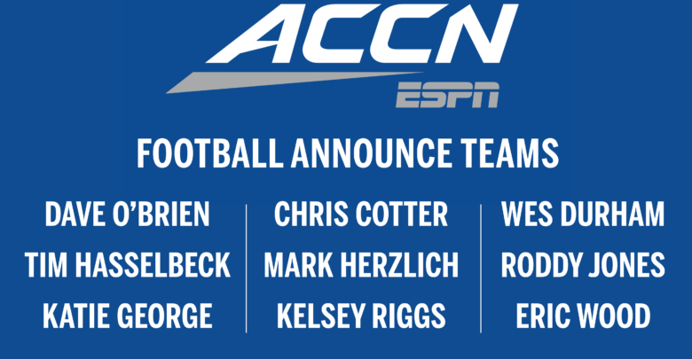 The ACC Network football announcing team.