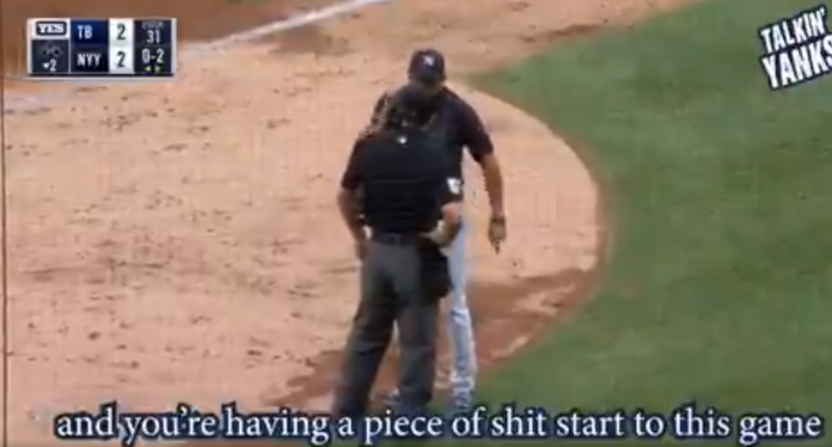 Aaron Boone's rant against umpire Brennan Miller was picked up on hot mics.