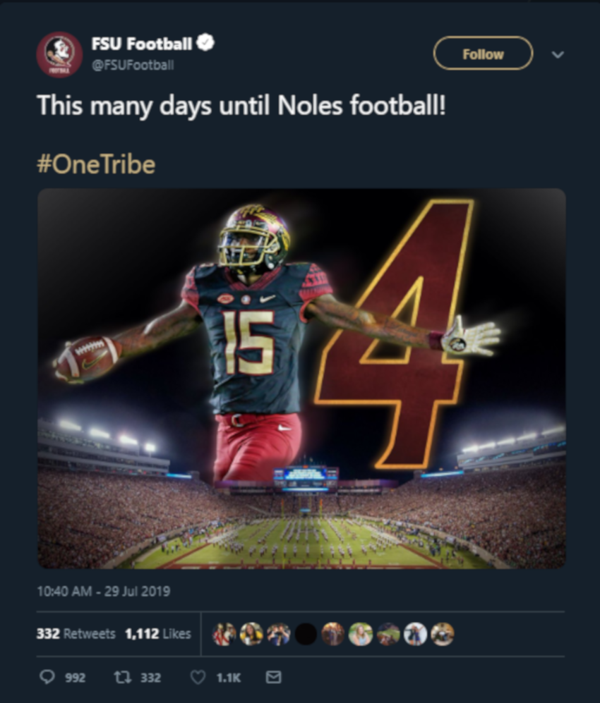No, Florida State, there are not 154 days to your season opener.