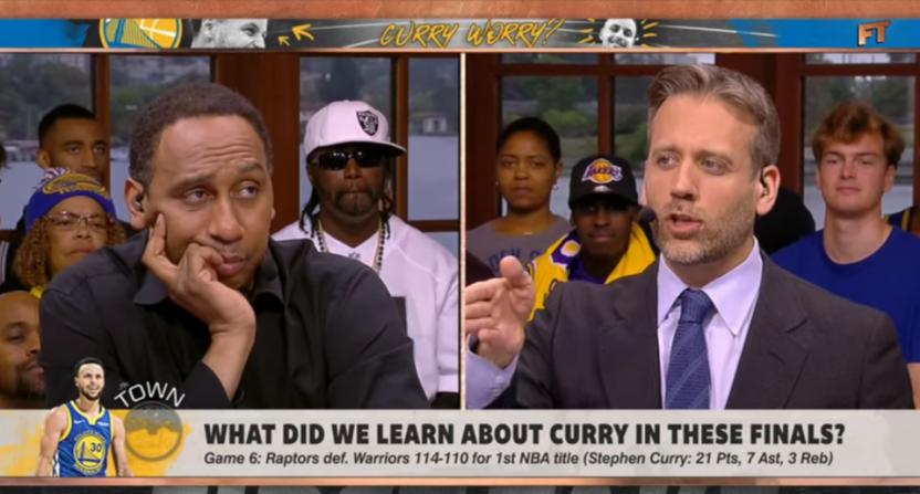 First Take debating Stephen Curry.