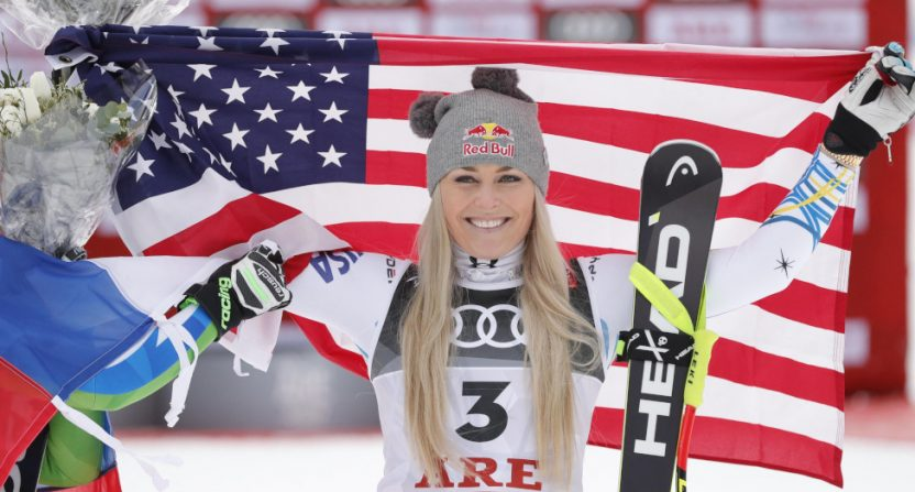 Lindsey Vonn at the FIS World Championships in February 2019.