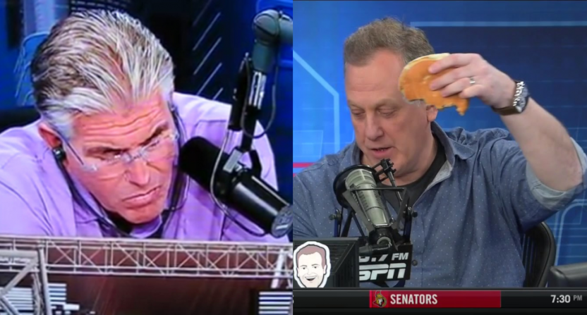 Mike Francesa and Michael Kay.