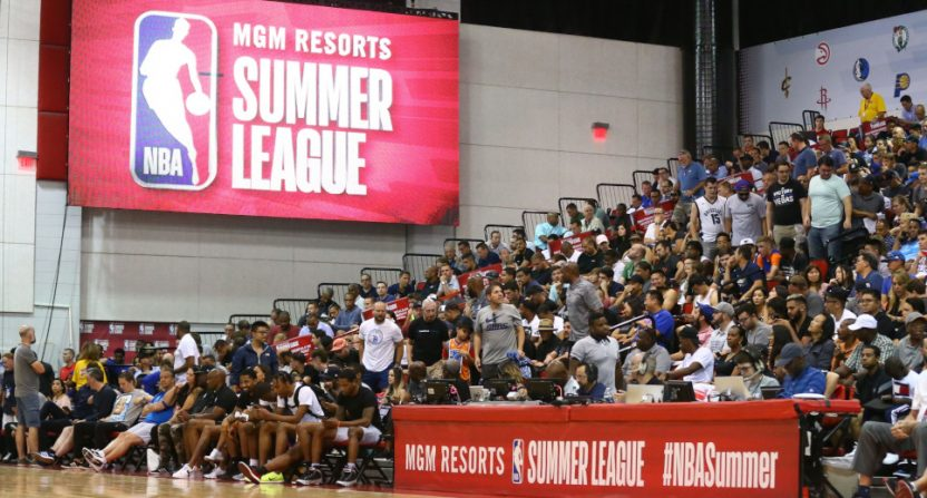 A NBA Summer League game in 2018.