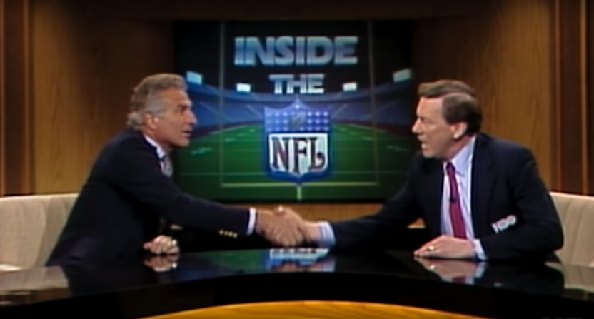 Nick Buoniconti (L) and Len Dawson on Inside The NFL.