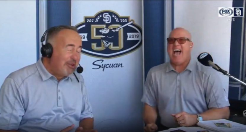 Don Orsillo chewing old gum.