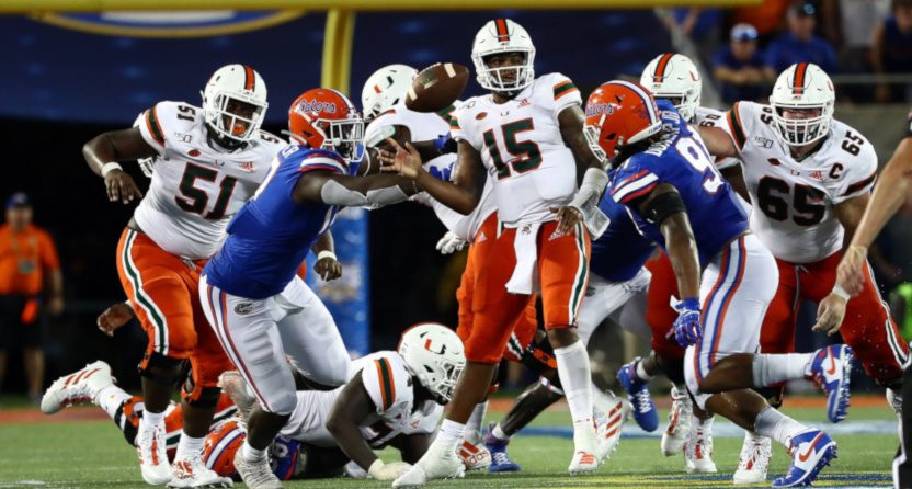 A Week 0 game between Miami and Florida.