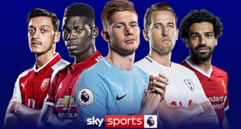 A Sky Sports Premier League graphic.