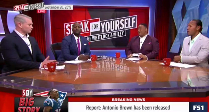 FS1 discussion of Antonio Brown on Speak For Yourself.