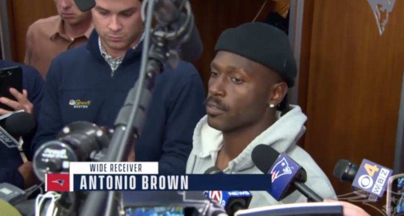 Antonio Brown with the Patriots.