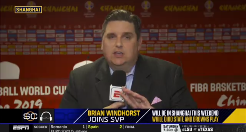 Brian Windhorst is trying to find a way to watch the Browns in China.