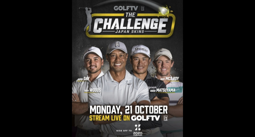 Tiger Woods will play in The Challenge: Japan Skins on GolfTV.