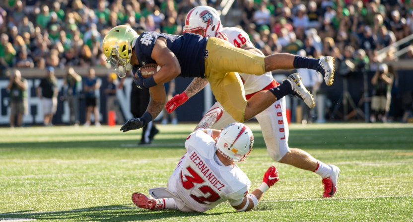 The Notre Dame game against New Mexico drew the lowest rating for a ND home opener since at least 1997.