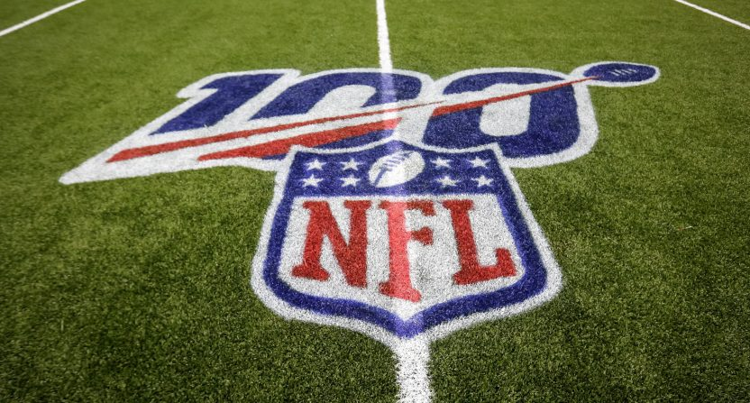 The NFL 100 logo.