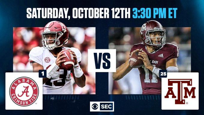 CBS chose Alabama-Texas A&M over Florida-LSU.