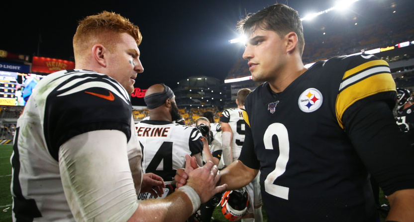 The Bengals and Steelers MNF ratings dropped year over year, but were slightly up from last week's Bears-Redskins.