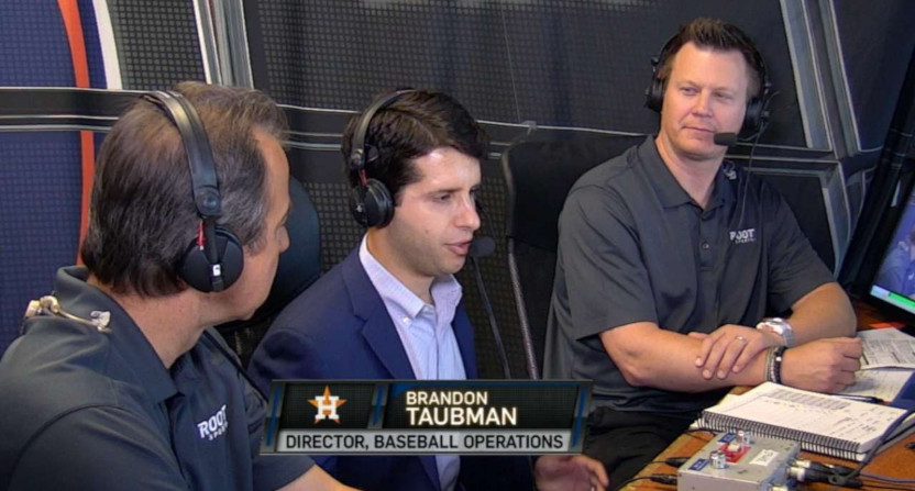 Brandon Taubman on a 2017 MLB broadcast.