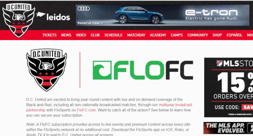 D.C. United and FloSports.