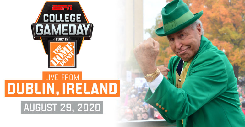 College GameDay heading to Ireland.