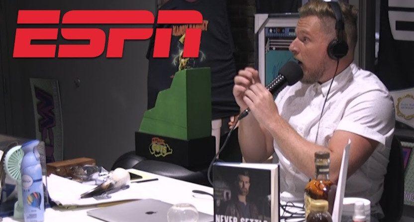 Pat McAfee on ESPN.
