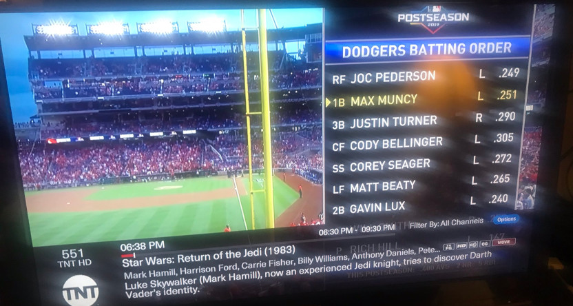 TNT preempted a Star Wars marathon for playoff baseball, and people got upset.