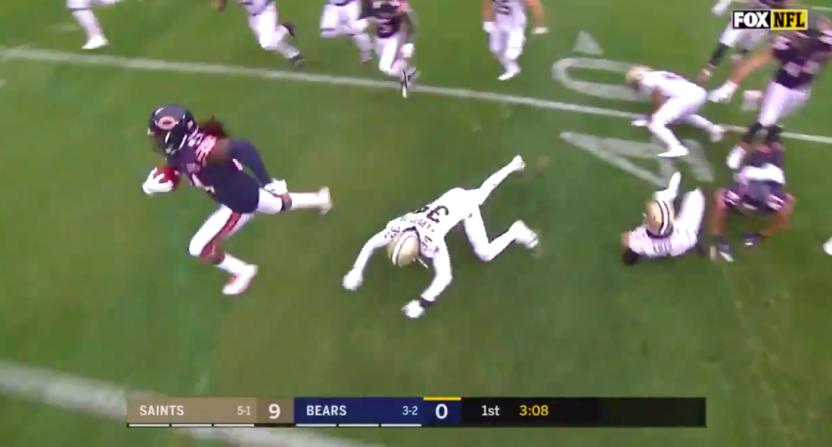 SkyCam Bears Touchdown