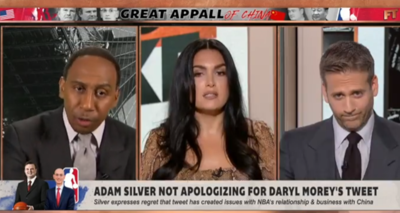 Stephen A. Smith bringing up Israel and Palestine on First Take.